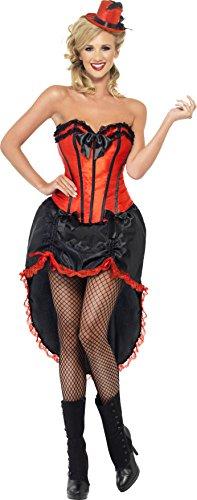 Smiffy's Burlesque Dancer Costume, Red/Black, (Burlesque Dancer Costumes For Women)