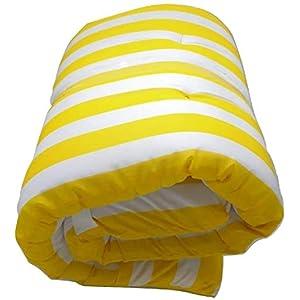 Dabuty Online, S.L. Cojín Tumbona Colchón Tumbona Acolchada 180 x 55 x 8 cm Classic Texturas Colchoneta para sillas de (Rayas Amarillo)