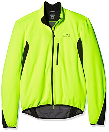 GORE BIKE WEAR Men's Cycling Jacket, Super Light, GORE WINDSTOPPER,  Jacket, Size: XL, Neon Yellow / Black, JWELMS