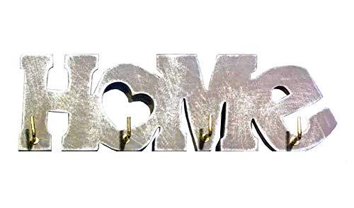 VINNS Porta PRESINE A 4 Ganci Shabby in Legno con Scritta Home CASA in Diversi Colori da Scegliere