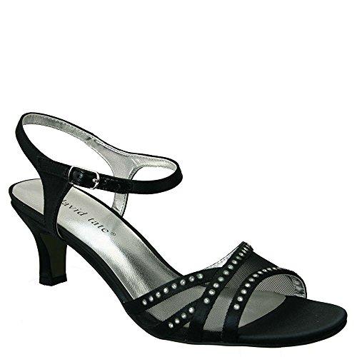 David Tate Womens Violet Black Sandal 6