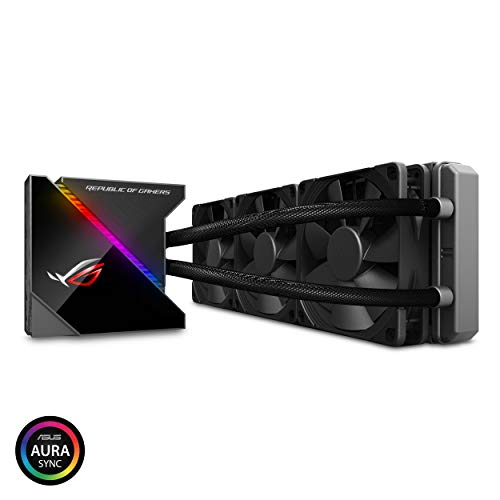 (ASUS ROG Ryujin 360 RGB AIO Liquid CPU Cooler 360mm Radiator (Three 120mm 4-pin Noctua iPPC PWM Fans) with LIVEDASH OLED Panel and FanXpert Controls, 360)