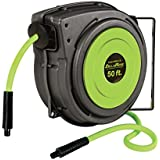 "Legacy L8250FZ Flexzilla 3/8"" x 50' ZillaReel Retractable Enclosed Plastic Air Hose Reel"