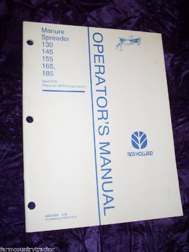 New Holland 130/145etc Manure Spreader OEM OEM Owners Manual: New