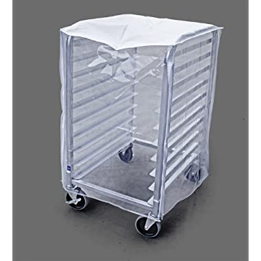 New Star 36534 Plastic 10-Tier Commercial Kitchen Bun Pan Sheet Pan Rack Cover, 28 by 23 by 33-Inch