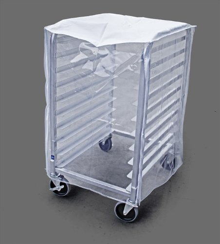 New Star Foodservice 36534 Commercial-Grade Sheet Pan/Bun Pan Rack Cover, Plastic, 10-Tier, 28