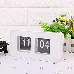 KAN-X Digital Clock Retro Classic Stylish Auto Flip Modern Desk Wall Home, Auto Flip Clock - Desk Flip, Wall Clock Electronic, Flip Wall Clock, Auto Mechanic Clock, Modern Clock
