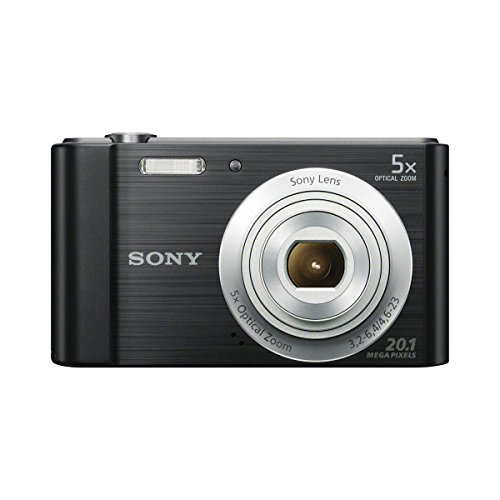 Sony DSCW800/B 20.1 MP Digital Camera (Black) Black Cyber Shot