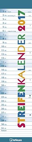 Streifenkalender 2017 - Notizkalender, mit Tagesreiter, Spiralbindung - 12 x 52,6 cm