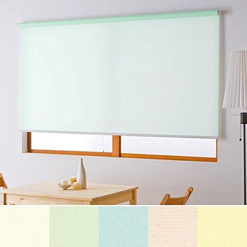 つっぱり式 ロールスクリーン ロールカーテン 簡単取り付け 規格サイズ (幅180×高さ180cm, グリーン) 幅180×高さ180cm グリーン B01ESZIPJ0