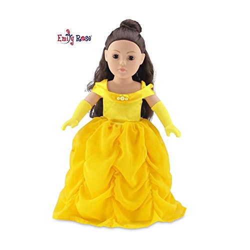 Belle Princess Dress Halloween Costume For 18 Inch American Girl Doll Clothes