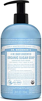 Dr. Bronner's Organic Sugar Soap - (Unscented, 24 oz)