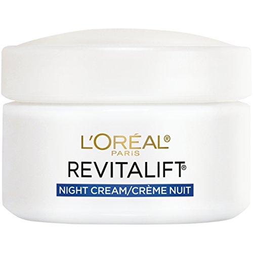 - L'Oreal Paris, RevitaLift Anti-Wrinkle + Firming Night Cream Moisturizer 1.7 oz