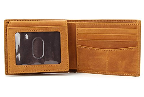 Wardeindesign Men's Leather Wallet Bifold RFID Designer engraved - and leather key fob by Wardeindesign