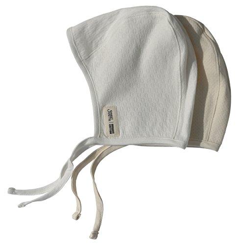 Sweet Layette Newborn Bonnet Cap - Baby Pilot Hat - 100% Certified Organic Cotton (3-6 Months, 2 Set)]()