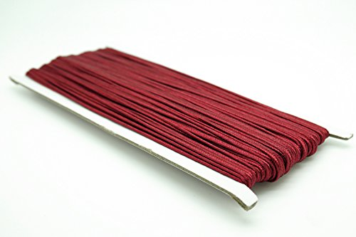 (BURGUNDY 3mm Polyester Soutache Braid Cord String Beading Sewing Quilting Trimming - 30 Yards)