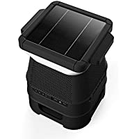 Monster SOLARA - Solar Powered, Pair Up To 8 Speakers (EZ Play), Weather Resistant, LED Light With Mobile App Controller, 360 Degree Sound, Outdoor/Indoor, Weather Resistant