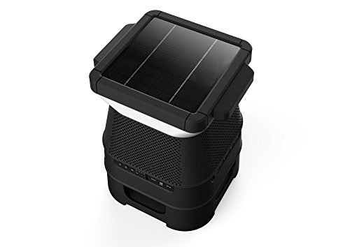 Monster SOLARA - Solar Powered, Pair Up To 8 Speakers (EZ Play), Weather Resistant, LED Light With Mobile App Controller, 360 Degree Sound, Outdoor/Indoor, Weather Resistant by Monster