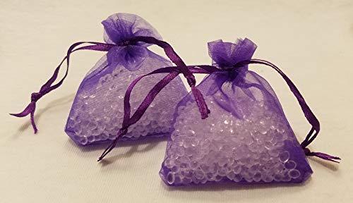 (Lotus Innovations Handmade Bags of Lavender & Eucalyptus Scented Aroma Beads Sachet, Designed for Sleep, Air Freshener, Home, Car (Pack of 2))