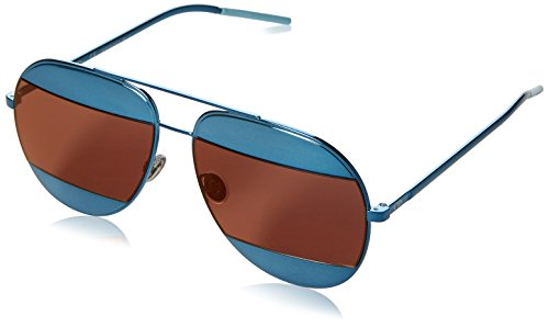 New Dior Sunglasses Mens DIOR SPLIT 1/S Blue Y4ERD DIORSPLIT1/S 59mm