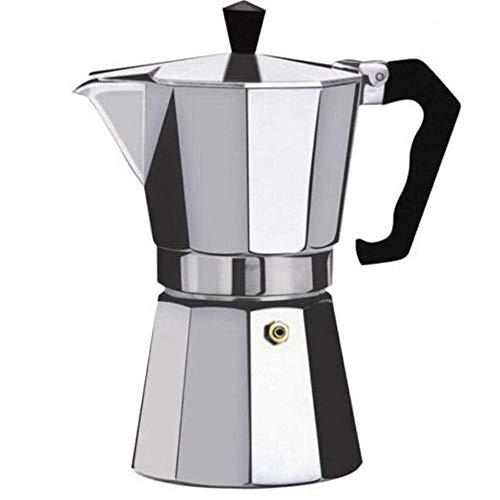 MiXXAR Cafetera Italiana Cafetera espressos Conveniente Percolador de café Espresso clásico Aluminio para la Cocina de…