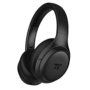 TaoTronics Active Noise Cancelling Bluetooth Headphones HiFi Deep Bass w/CVC Noise Canceling Microphone, All Day Playtime, Comfortable Ear Pads for Travel Work TV Phone