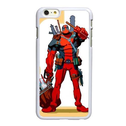 O0I22 deadpool Wade Wilson K9H2UD coque iPhone 6 Plus de 5,5 pouces de cas de couverture de téléphone portable coque blanche CZ6BWV4EW