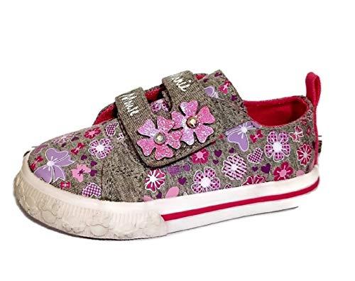 Disney Minnie Mouse Toddler Girls Casual Flower Sneaker (Toddler/Little Kid),Gray,6 US Toddler