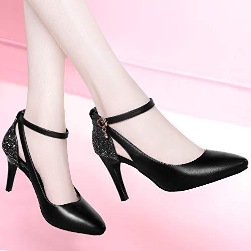 Yukun Schuhe mit hohen Absätzen Hochhackige Stilett Mode Herbst Herbst Schuhe Herbst Herbst Professionelle Einzelne Schuhe Damenschuhe