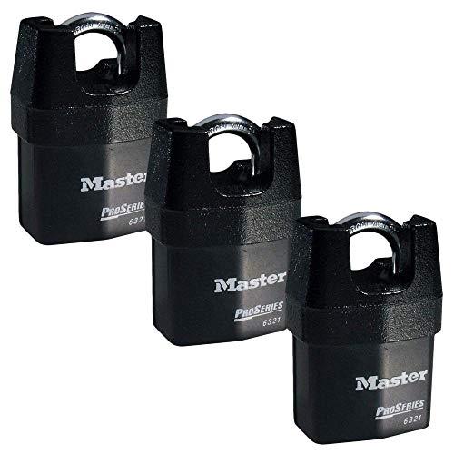 Master Lock - Three (3) High Security Pro Series Padlocks 6321NKA-3 w/ BumpStop Technology.