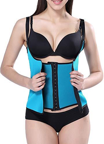 2f0df2b8f5 Romacci Women Body Shaper Waist Trainer Zip Tummy Cincher Vest Underbust  Control Corset Slimming Shapewear at Amazon Women s Clothing store