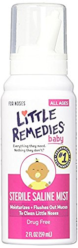 Little Remedies Baby Sterile Saline Mist, 2 Ounce - Pack of 6