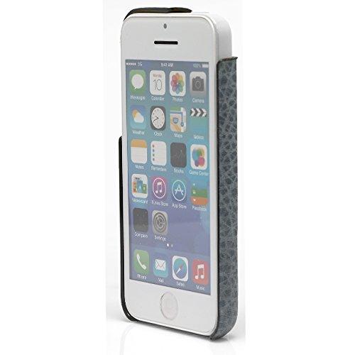 Original CDN iPhone 5C globaltrade Case Cover in pelle Custodia Cover posteriore Custodia in vera pelle italiana in Leo blu