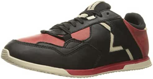 Diesel Men's Remmi-v S-Furyy Ii Fashion Sneaker, Black/Chili Pepper, 8.5 M US