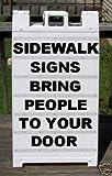 Sidewalk A-Frame Heavy Duty Plasticade 2 Sided Message Board Sign