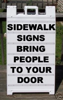 Sidewalk A-Frame Heavy Duty Plasticade 2 Sided Message Board Sign