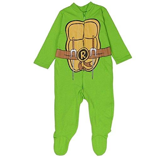 Teenage Mutant Ninja Turtles Boys One-Piece Foot Pajama Costume Footie Pajama... -