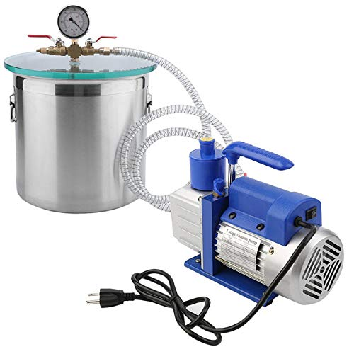Pump Lid Cover (2 Gallon Vacuum Chamber Degassing Kit with 1/4 HP 3CFMVacuum Pump or Degassing Silicone Epoxy)
