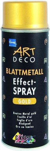 KREUL 994400  Art Deco Blattmetall Effect-Spray, 400 ml, Gold