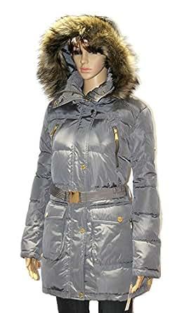 Amazon.com: MICHAEL Kors women's Faux Fur Belted Down Coat
