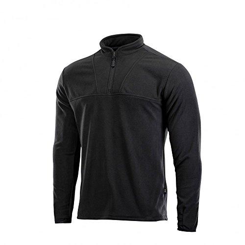 Thermal 1/4 Zip (Delta Fleece Mens Top Thermal Underwear for Men Fleece Lined Compression Shirt (Black, M))