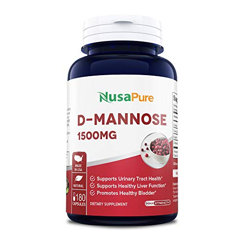 : D-Mannose 1500mg 180 Capsules (Non-GMO & Gluten Free) Supports Urinary Tract Health, Promotes The Body's Natural Cleansing Process