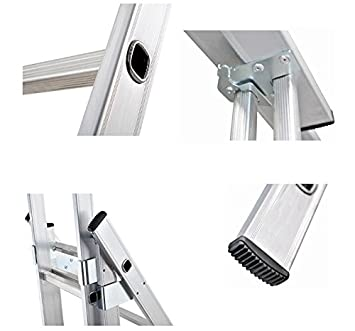 Trittleiter Profi-Aluminium Triple mit Tranche ausziehbar 3/x 7/ Escada Tripla 3/x 7 2/+ 2/+ 2