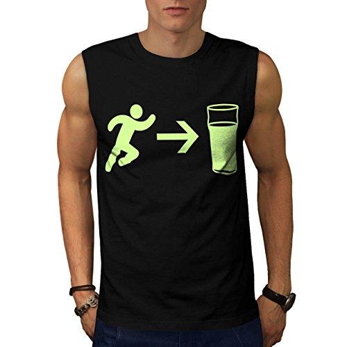 exit-beer-needs-me-men-new-m-sleeveless-t-shirt-wellcoda