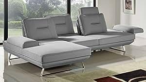 Zuri Furniture Modern Light Grey Fabric Sondra Sectional - Left Chaise