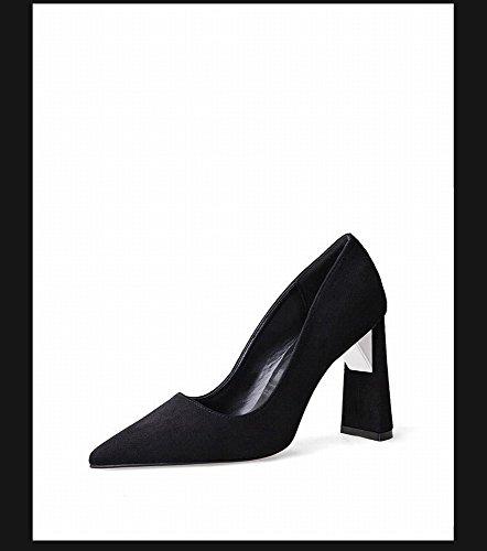Profesional Acentuados Altos Zapatos DHG de Sex Baja S Tacones de con Espesor OL Boca Moda Zapatos Color de de 4wqqxWp8d
