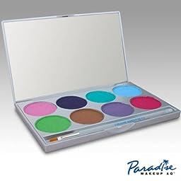 Face Paint Palette with 8 Colors By Paradise Makeup Aq (Pastel) by Mehron