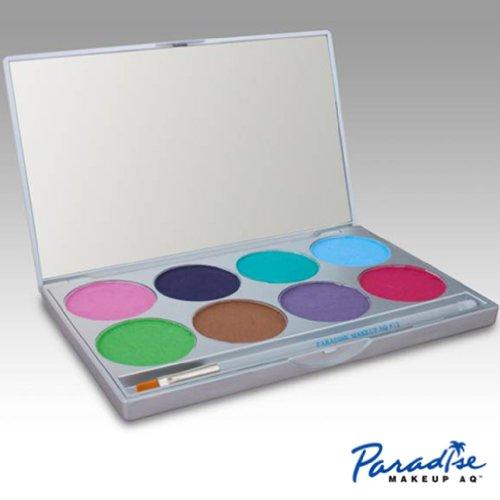 Mehron Makeup Paradise AQ Face & Body Paint 8 Color Palette- (Halloween Face Painting Witch Ideas)