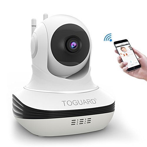 Wireless Security Camera, Toguard WiFi IP Camera HD 720P for Pet Baby Home Security with Two-Way Audio Night Vision Motion Detect APP Remote View for iOS Android Support Cloud Storage