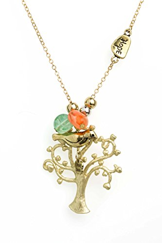 Handmade Pendant Necklaces by Beautifly with a 16-inch Chain in Silver/Amber/Gold Color Unique Premier Designs Vintage, Modern or Classic Styles and (Tree of (Bestfriend Costumes)